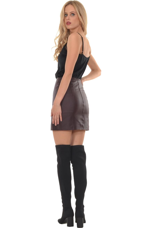 Φούστα mini σε στενή γραμμή με φερμουάρ πίσω  ae57e264275