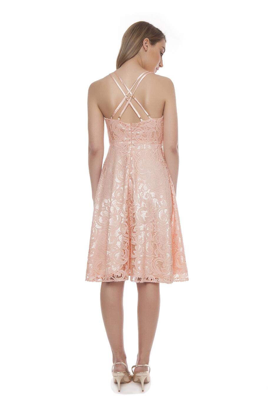 Φόρεμα δαντέλα σε κλος γραμμή με σατέν εσωτερικά  f0b4844adfd