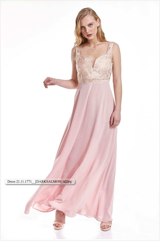 19d7dc2dacac Φόρεμα μακρύ με δαντέλα εξωτερικά στο μπούστο