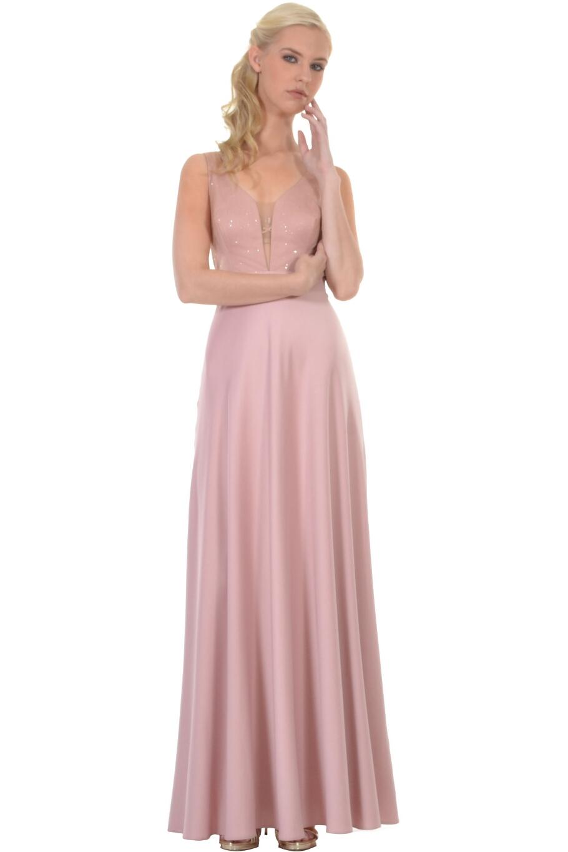 a13c97ebfa5a Φόρεμα μακρύ κλος με μπούστο διαφάνεια με στρας