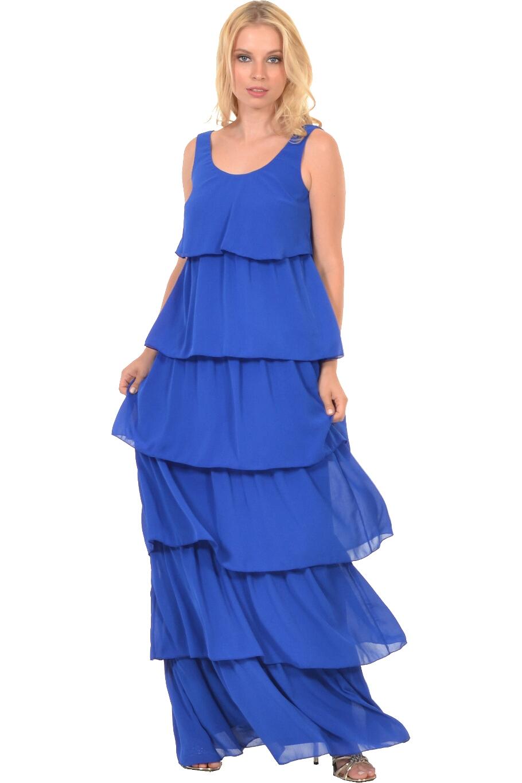 Φόρεμα μακρύ με βολάν και δέσιμο πίσω  0245072781e