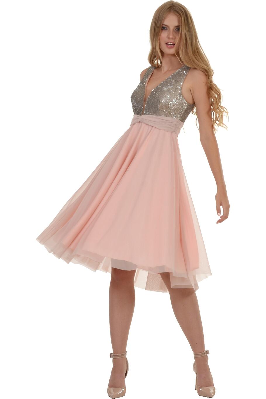 7725fa58635 Φόρεμα midi με παγιέτα στο στήθος | Bellino