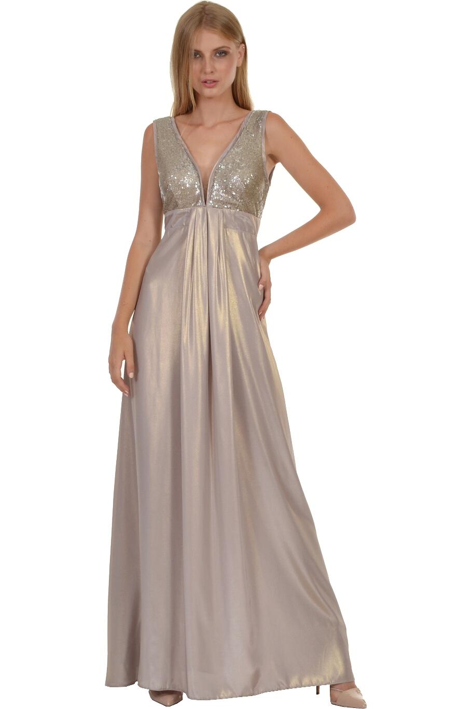 43f2be171eb2 Φόρεμα maxi με εντυπωσιακό μπούστο από παγιέτα