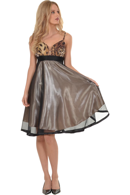 Φόρεμα midi με εντυπωσιακό μπούστο και τούλινη φούστα  cfcc17647ff
