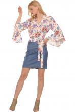Bellino,  Φούστα mini σε στενή γραμμή (ΙΝΤΙΓΚΟ, L)