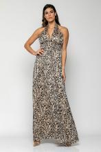 Bellino,  Φόρεμα με κουμπιά πίσω στο λαιμό εξώπλατο maxi (ΜΑΥΡΟ, S)