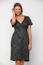 Bellino,  Φόρεμα μπροκάρ κρουαζέ με κόψιμο στη μέση (ΑΣΗΜΙ, L)