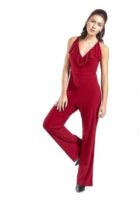 Bellino,  Παντελόνι φόρμα κρεπ ελαστικό σε άνετη γραμμή (ΜΠΟΡΝΤΟ, L)