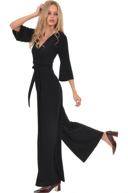 Bellino,  Παντελόνι - φόρμα κρουαζέ σε ελαστικό ύφασμα (ΜΑΥΡΟ, L)