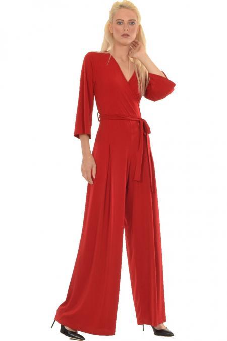 Bellino,  Παντελόνι - φόρμα κρουαζέ σε ελαστικό ύφασμα (ΜΠΟΡΝΤΟ, S)