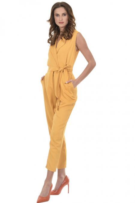 Bellino,  Παντελόνι - φόρμα κρουαζέ με πέτο γιακά (ΩΧΡΑ, L)