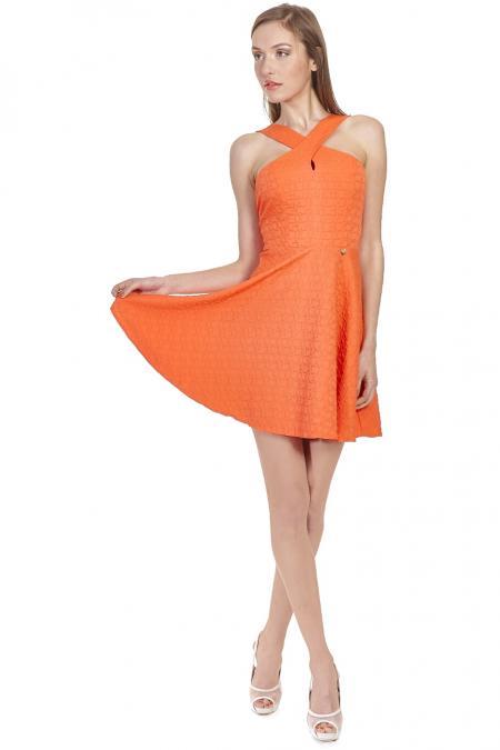 Bellino,  Φόρεμα κλος εξώπλατο (ΚΟΡΑΛΙ, L)
