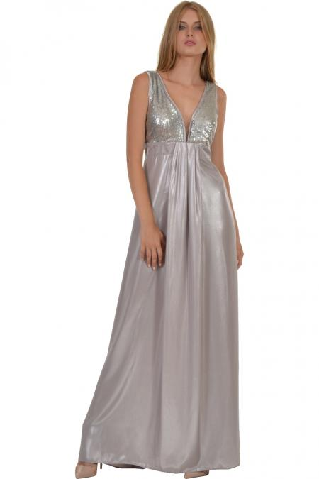 Bellino,  Φόρεμα maxi με εντυπωσιακό μπούστο από παγιέτα (ΑΣΗΜΙ, XL)