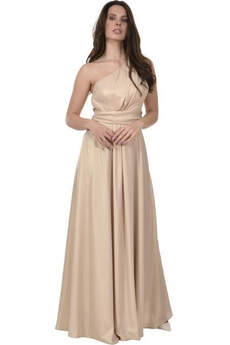 Bellino,  Φόρεμα lurex με έναν ώμο (ΧΡΥΣΟ, L)
