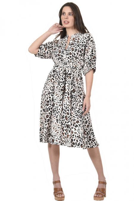 Bellino,  Φόρεμα midi με τρουακάρ μανίκι φαρδύ (ΚΑΝΕΛΑ, L)