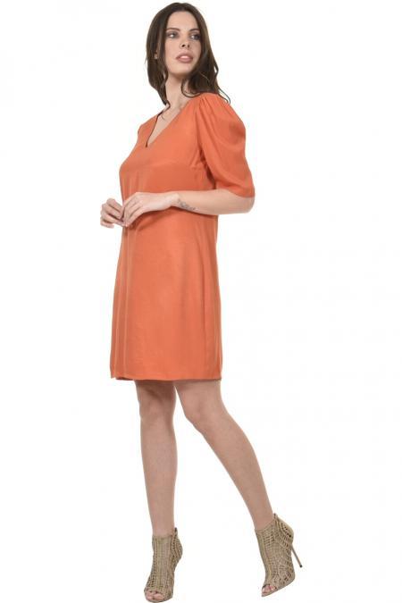 Bellino,  Φόρεμα κρεπ διαγωνάλ σε ίσια γραμμή (ΚΕΡΑΜΙΔΙ, L)