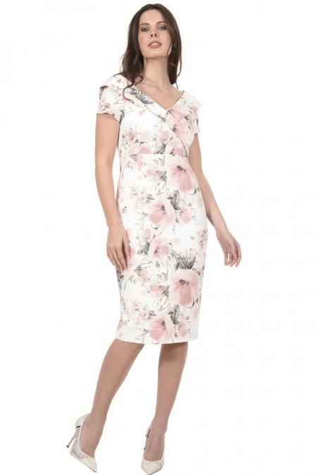 Bellino,  Φόρεμα midi σε στενή γραμμή με γιακά (ΣΑΠΙΟ ΜΗΛΟ, L)