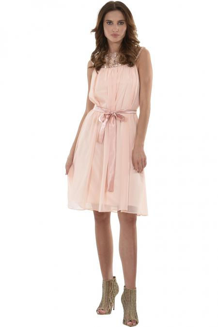 Bellino,  Φόρεμα closs midi σε μουσελίνα (ΣΟΜΟΝ, L)