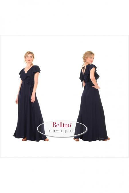 Bellino,  Φόρεμα maxi κρουαζέ εμπρός (ΚΑΝΕΛΑ, L)