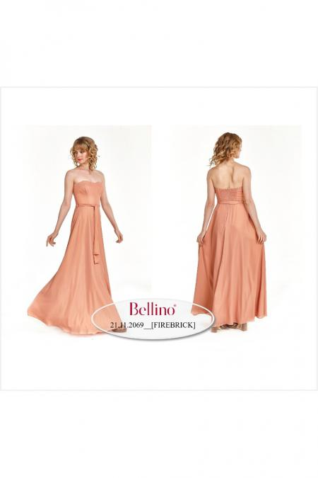Bellino,  Φόρεμα cocktail maxi strapless (ΧΡΥΣΟ, L)