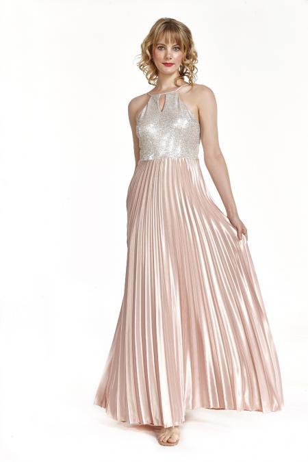 Bellino,  Φόρεμα cocktail πλισέ με θηλυκό ντεκολτέ (ΧΡΥΣΟ, M)
