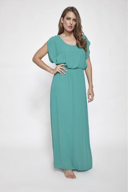 Bellino,  Φόρεμα μακρύ με άνοιγμα στην πλάτη (ΠΡΑΣΙΝΟ, S)