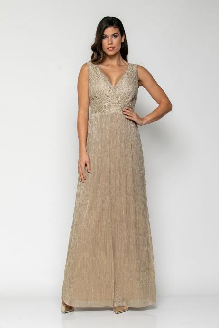 Bellino,  Φόρεμα cocktail maxi με μπούστο από δαντέλα (ΧΡΥΣΟ, L)