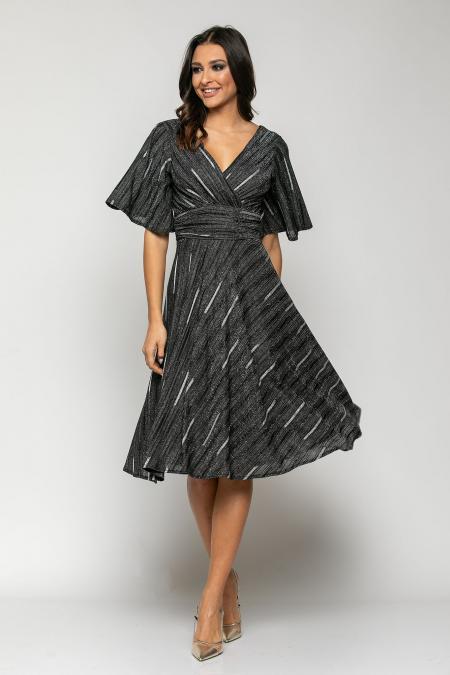 Bellino,  Φόρεμα cocktail lurex κρουαζέ (ΜΑΥΡΟ, S)