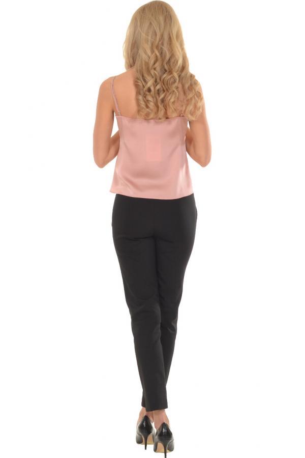 Bellino,  Μπλούζα με θηλυκό ντεκολτέ και παγιέτα στο στήθος (ΣΑΠΙΟ ΜΗΛΟ, L)