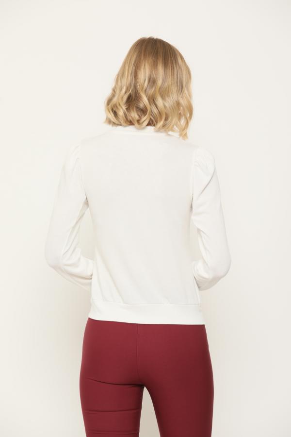 Bellino,  Μπλούζα με κουμπιά εμπρός και στα μανίκια (ΕΚΡΟΥ, XL)