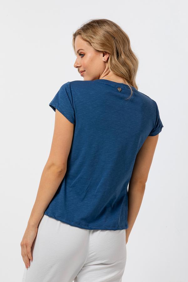 Bellino,  Μπλούζα βαμβακερή (ΙΝΤΙΓΚΟ, L)