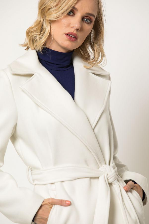 Bellino,  Παλτό με ζώνη και τσέπες σε μοντέρνα γραφή (ΕΚΡΟΥ, XL)
