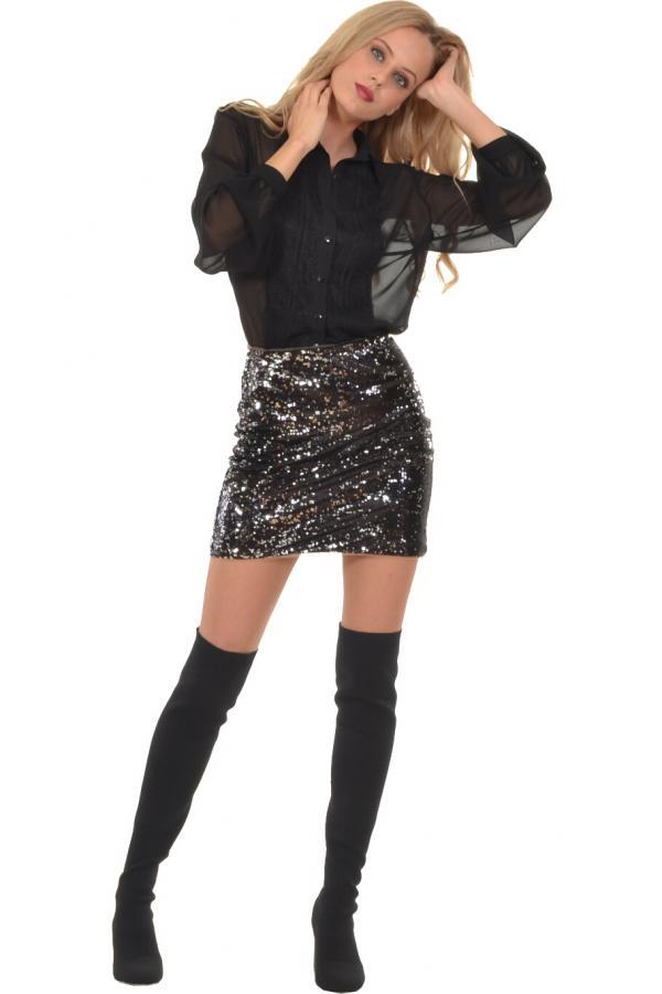 Bellino,  Φούστα mini σε παγιέτα (ΜΑΥΡΟ, S)