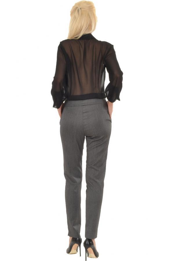 Bellino,  Παντελόνι που αγκαλιάζει το σώμα με ανοίγματα στο πλάι κάτω (ΑΝΟΙΧΤΟ ΓΚΡΙ, L)