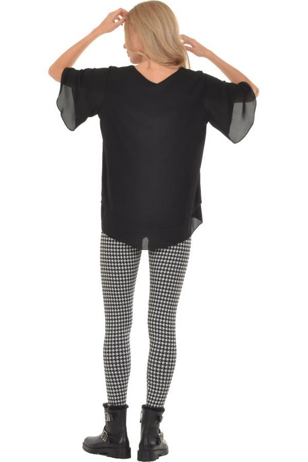 Bellino,  Παντελόνι ελαστικό με μπάσκα στη μέση (ΜΑΥΡΟ, L)