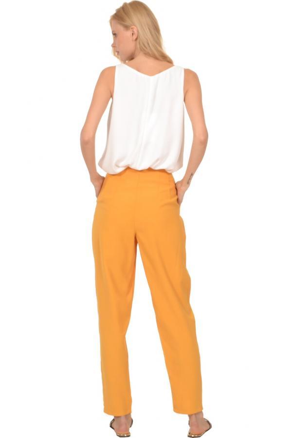 Bellino,  Παντελόνι ψηλόμεσο με πιέτες εμπρός και τσέπες (ΩΧΡΑ, L)