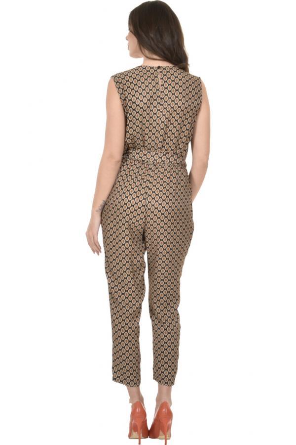Bellino,  Παντελόνι - φόρμα εμπριμέ κρουαζέ σε άνετη γραμμή (ΚΑΝΕΛΑ, XL)