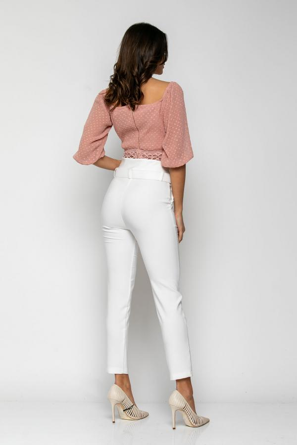 Bellino,  Παντελόν με extra ζώνη στη μέση και τσέπες εμπρός (ΕΚΡΟΥ, XL)