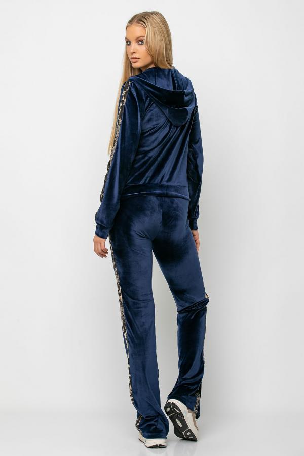 Bellino,  Παντελόνι βελουτέ με τσέπες εμπρός και λάστιχο στη μέση (ΜΠΛΕ, M)