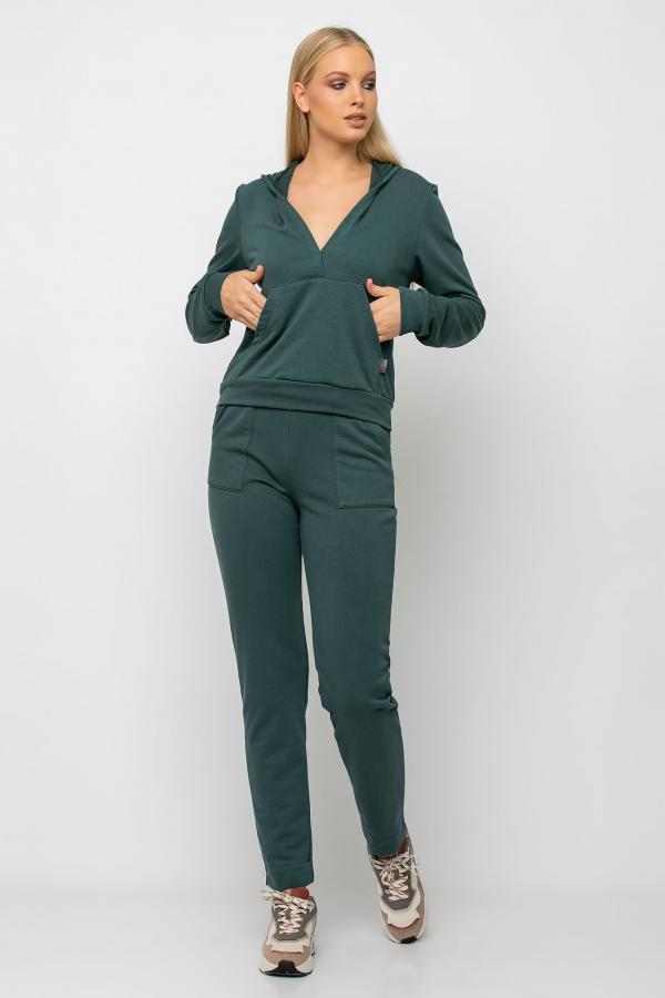 Bellino,  Παντελόνι φούτερ με τσέπες εμπρός και δέσιμο στη μέση (ΠΡΑΣΙΝΟ, M)