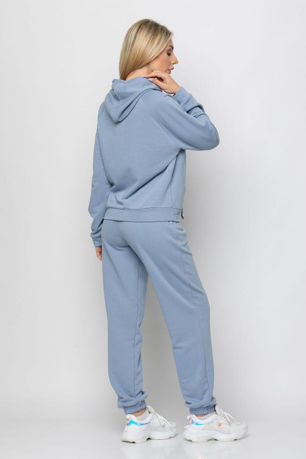 Bellino,  Παντελόνι φούτερ με τσέπες και λάστιχο στη μέση και στο πόδι (ΣΙΕΛ, L)