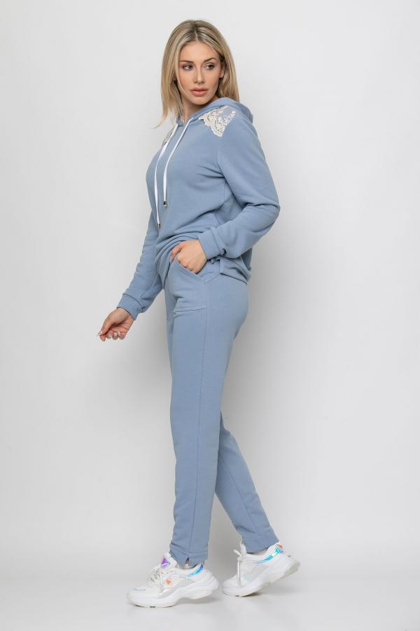 Bellino,  Παντελόνι φούτερ με τσέπες εμπρός και λάστιχο στη μέση (ΣΙΕΛ, L)