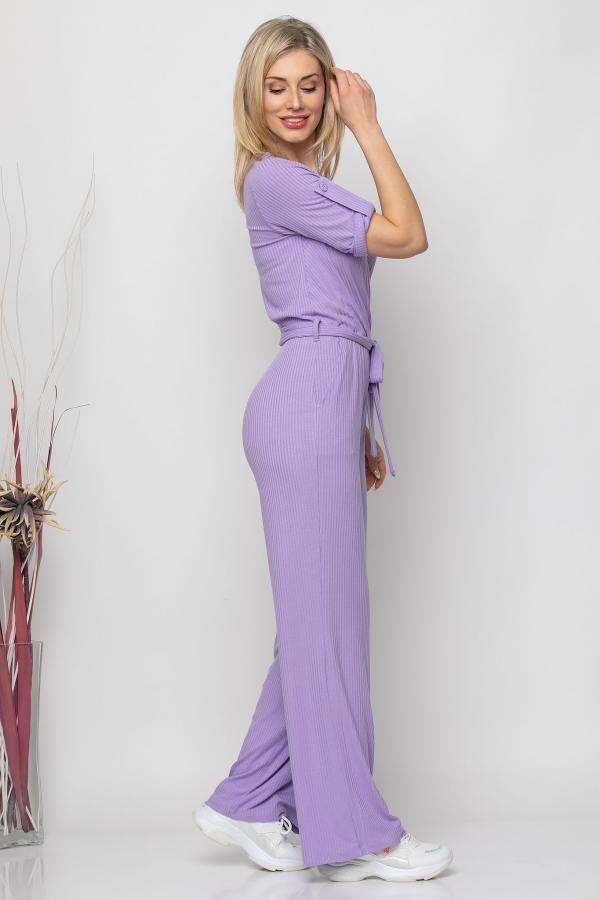 Bellino,  Ολόσωμη φόρμα κρουαζέ με τσέπες εμπρός και ζώνη στη μέση (ΜΩΒ, L)