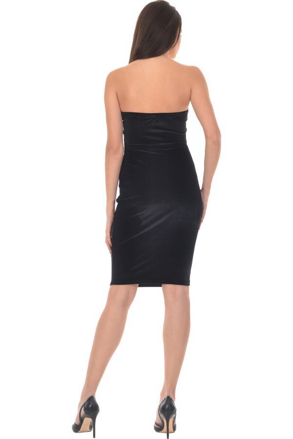 Bellino,  Φόρεμα βελούδο μίνι (ΜΑΥΡΟ, M)
