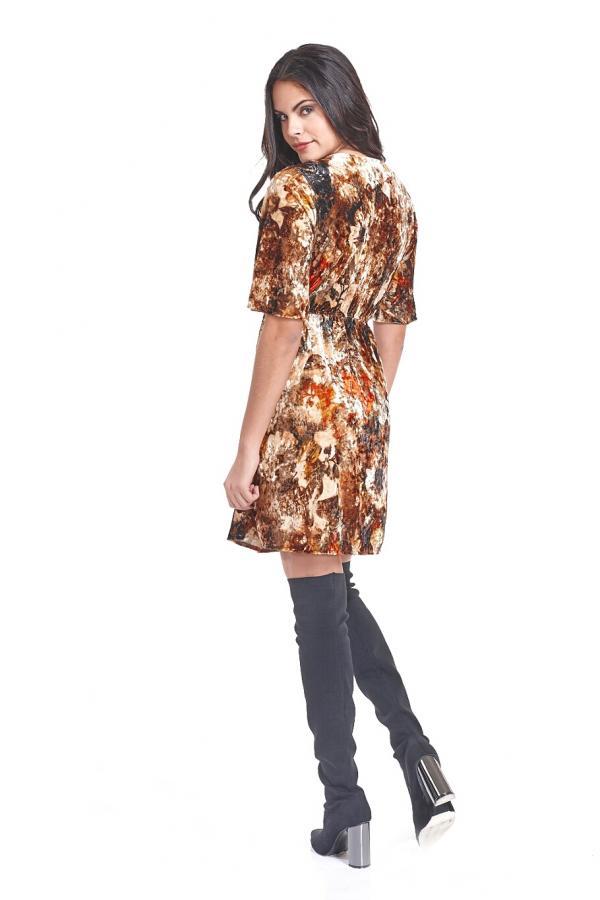 Bellino,  Φόρεμα κρουαζέ με λάστιχο στη μέση (ΜΠΕΖ, L)