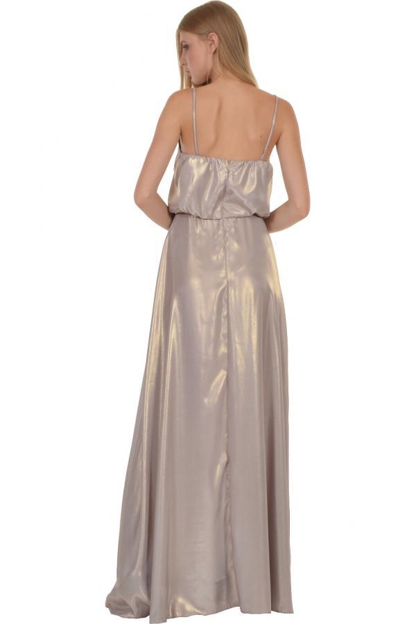 Bellino,  Φόρεμα maxi σε θηλυκή και άνετη γραμμή (ΧΡΥΣΟ, L)