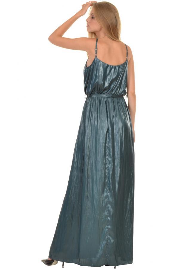 Bellino,  Φόρεμα maxi με ντραπέ εμπρός και ζώνη στη μέση (ΠΡΑΣΙΝΟ, L)