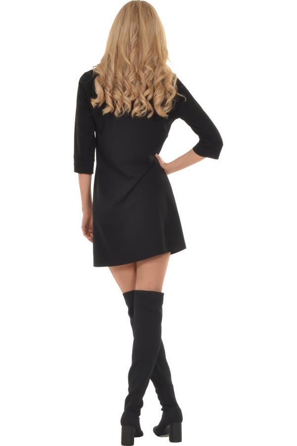 Bellino,  Φόρεμα mini σε ίσια γραμμή με εντυπωσιακό μανίκι (ΜΑΥΡΟ, L)