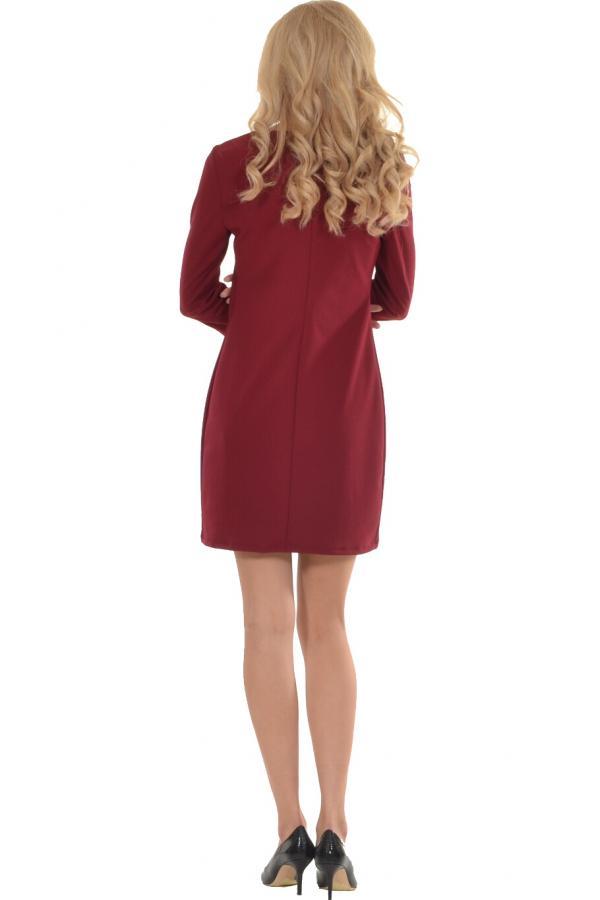 Bellino,  Φόρεμα midi σε ίσια γραμμή με διακοσμητικά κουμπιά (ΜΠΟΡΝΤΟ, L)