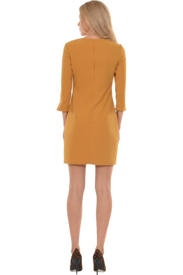 Bellino,  Φόρεμα midi σε ίσια γραμμή με διακοσμητικά κουμπιά (ΩΧΡΑ, M)
